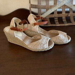 Ralph Lauren wedge sandal 7 1/2
